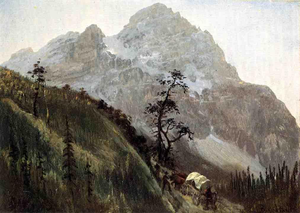 Western Trail, The Rockies   - Albert Bierstadt