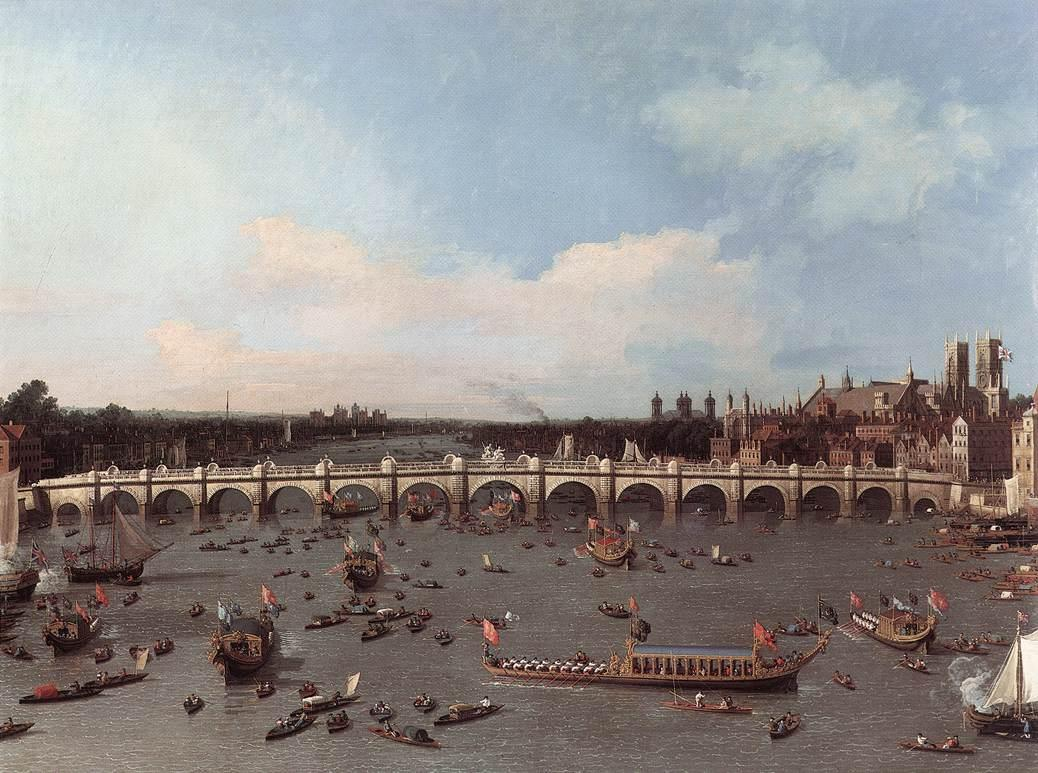 Westminster Bridge from the north on Lord Mayor's Day - Canaletto