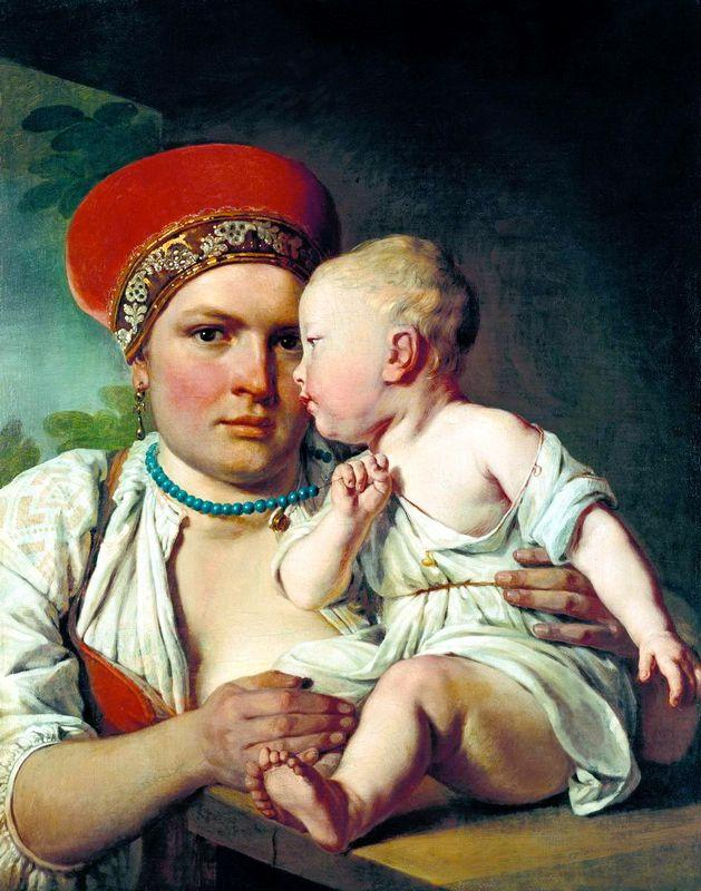 Wet-Nurse with a Child - Alexey Venetsianov