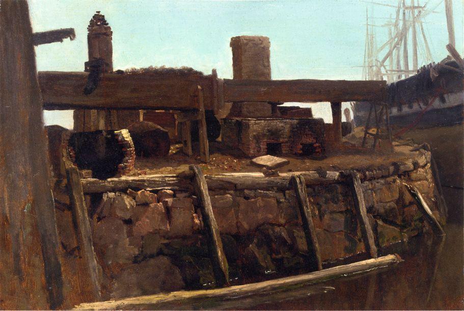 Wharf Scene - Albert Bierstadt