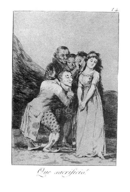 What a sacrifice! - Francisco Goya