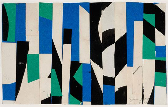 White Blue Construction - Jack Youngerman