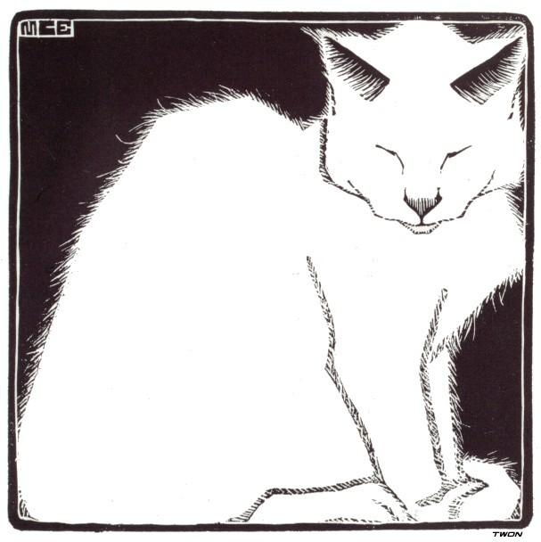 White Cat I - M.C. Escher