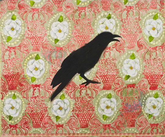 White Flower Crow  - Robert Zakanitch