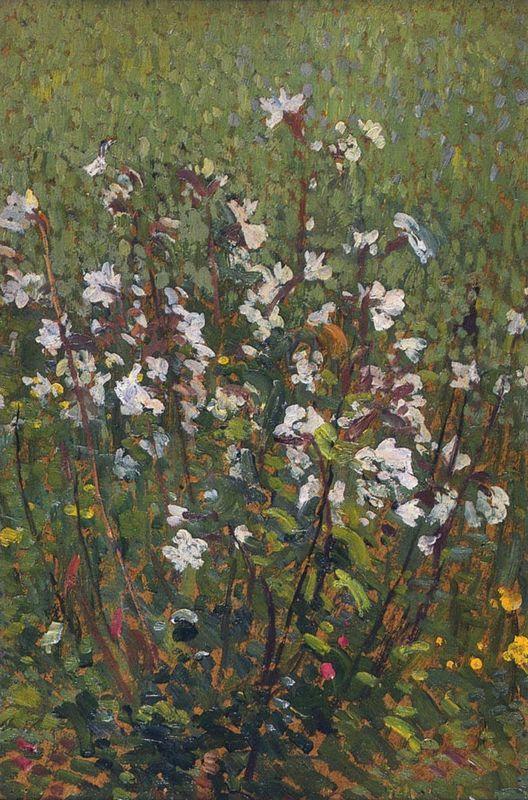 White Flowers in the Field - Henri Martin