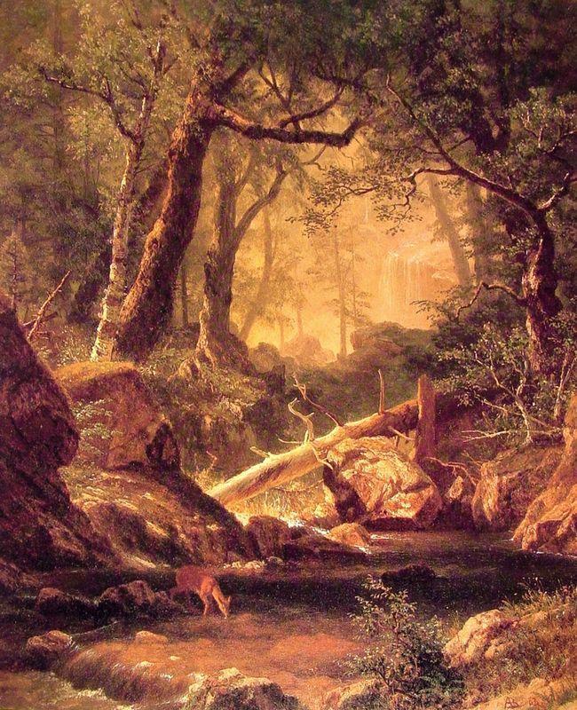 White Mountains, New Hampshire - Albert Bierstadt