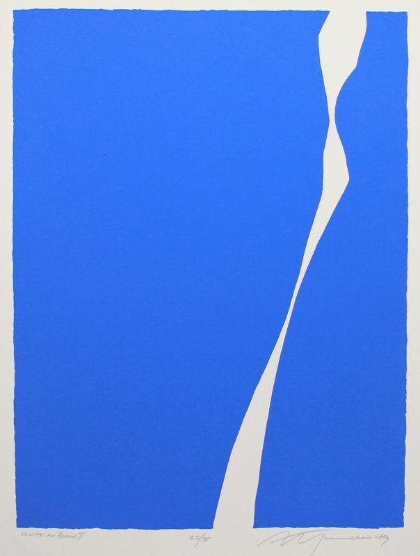 White On Blue II - Adja Yunkers