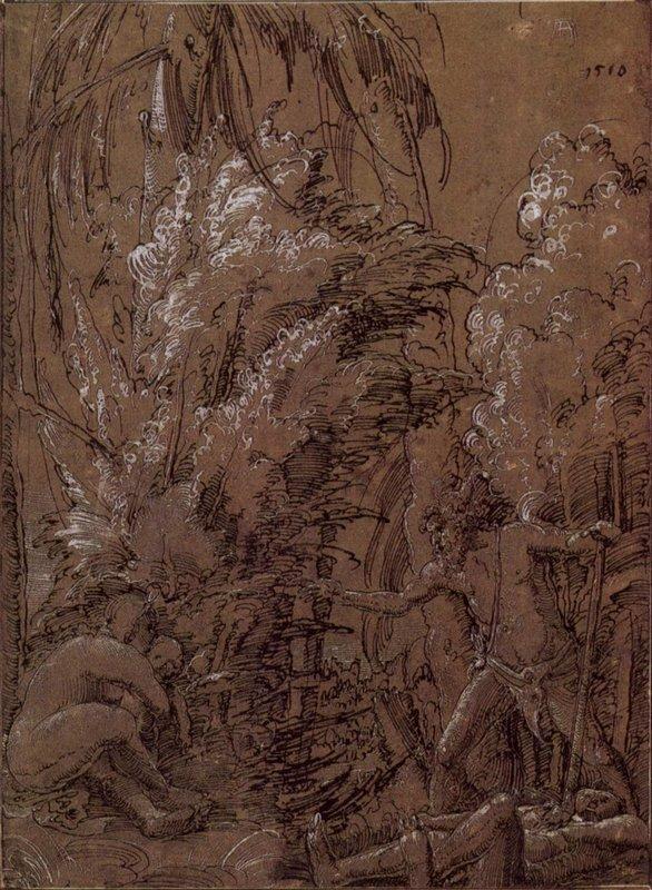 Wild folk family - Albrecht Altdorfer