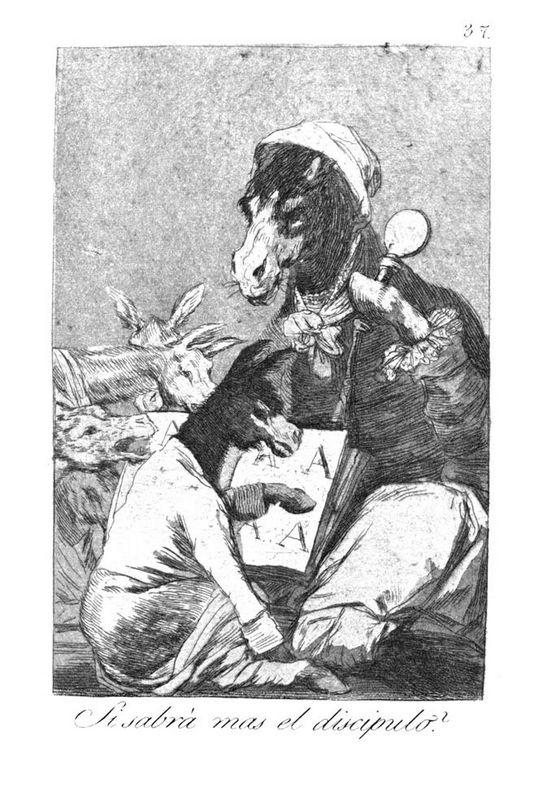 Will the student be wiser? - Francisco Goya