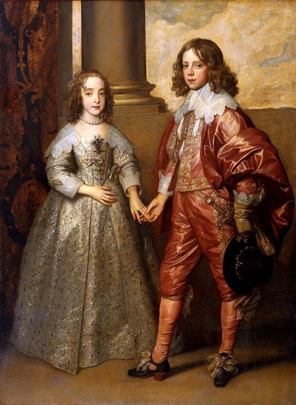 William II, Prince of Orange and Princess Henrietta Mary Stuart, daughter of Charles I of England - Anthony van Dyck