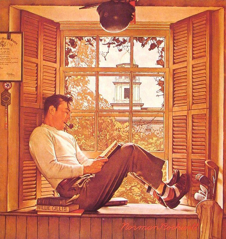 Willie Gillis in College - Norman Rockwell