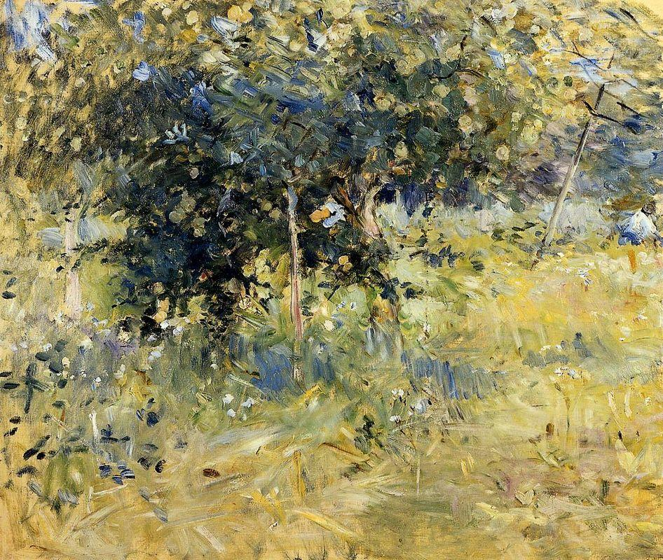 Willows in the Garden at Bougival - Berthe Morisot