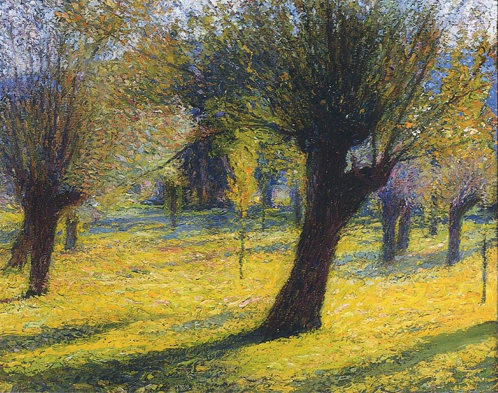 Willows in the Vert - Henri Martin