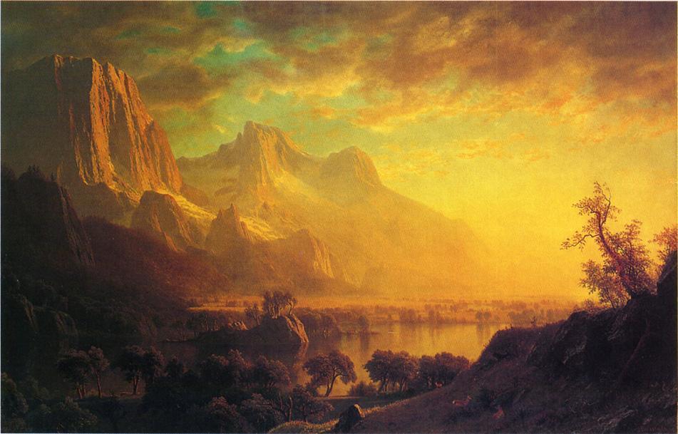 Wind River, Wyoming - Albert Bierstadt