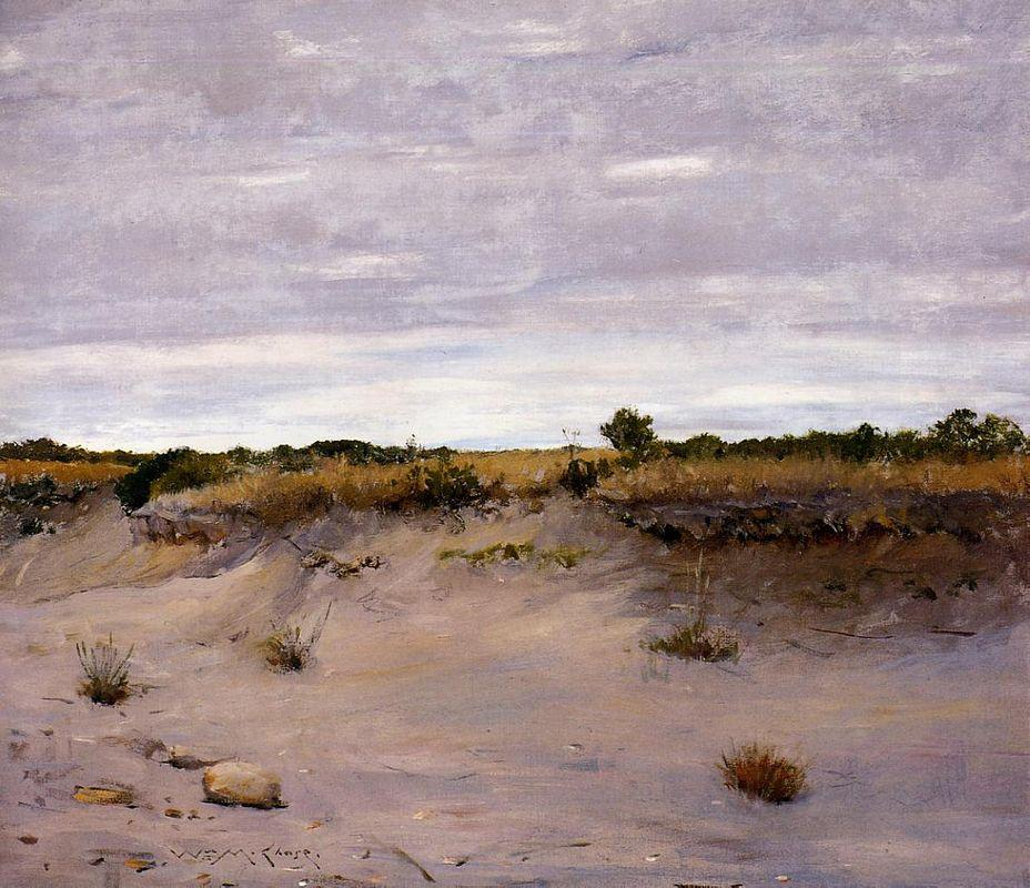 Wind Swept Sands, Shinnecock, Long Island - William Merritt Chase