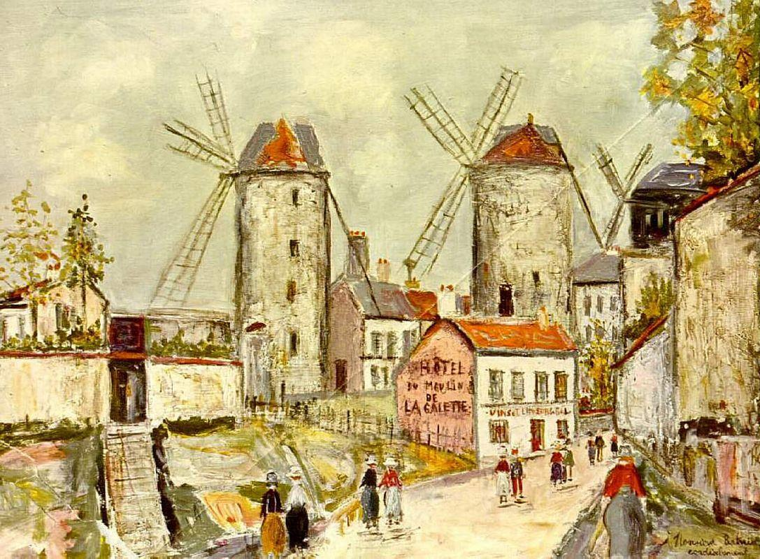 Windmills of Montmartre - Maurice Utrillo