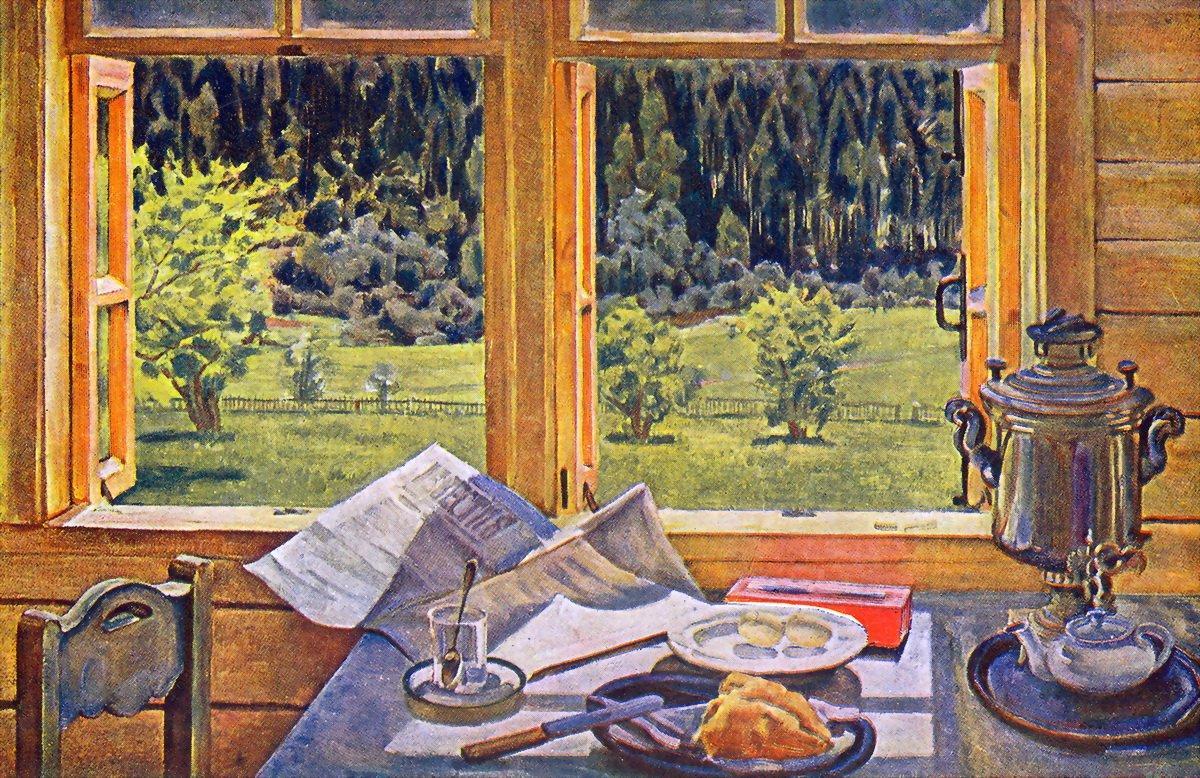 Window to Nature. Ligachevo, may - Konstantin Yuon
