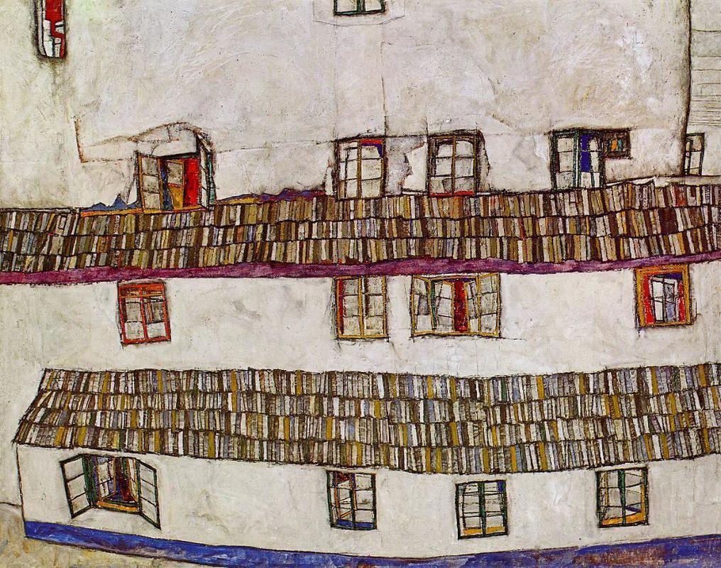 Windows (Facade of a House) - Egon Schiele