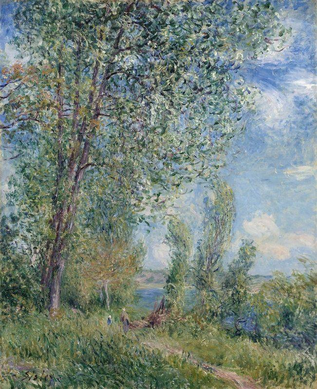 Windy Afternoon in May - Alfred Sisley