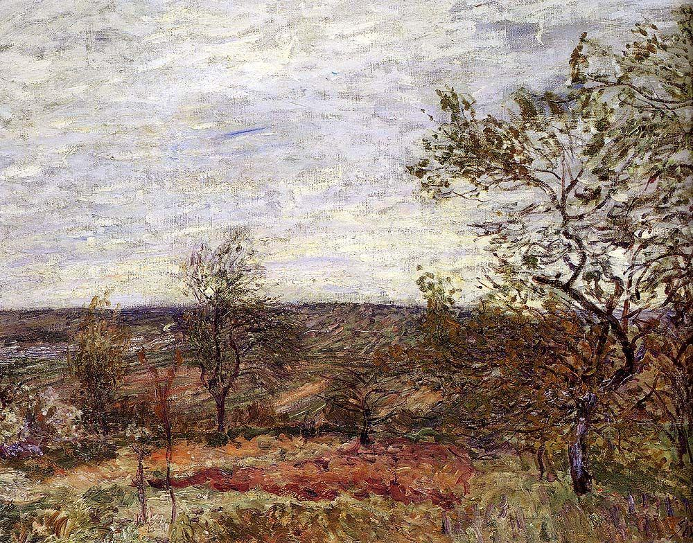 Windy Day At Veneux - Alfred Sisley