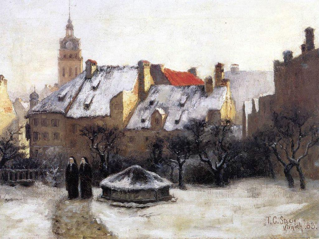Winter Afternoon Old Munich - T. C. Steele