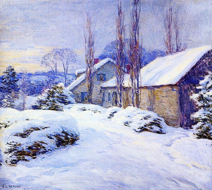 Winter Afternoon - Willard Metcalf
