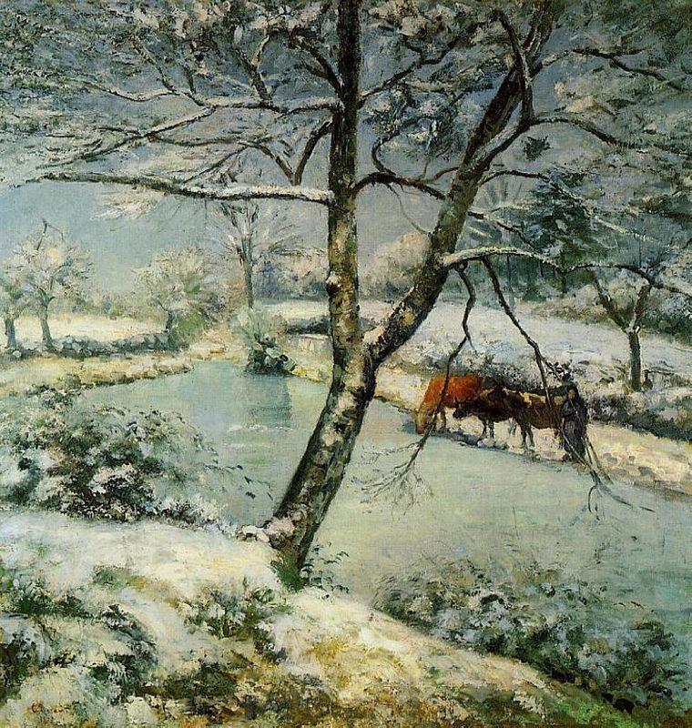 Winter at Montfoucault - Camille Pissarro