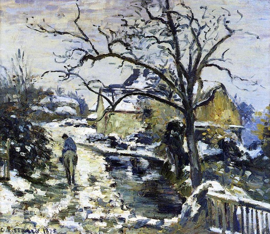 Winter at Montfoucault 2 - Camille Pissarro