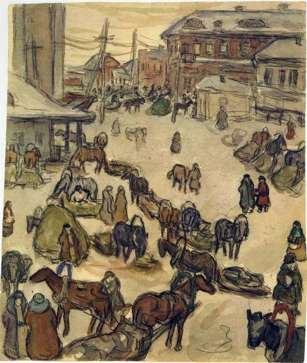 Winter in Kursk - Aleksandr Deyneka