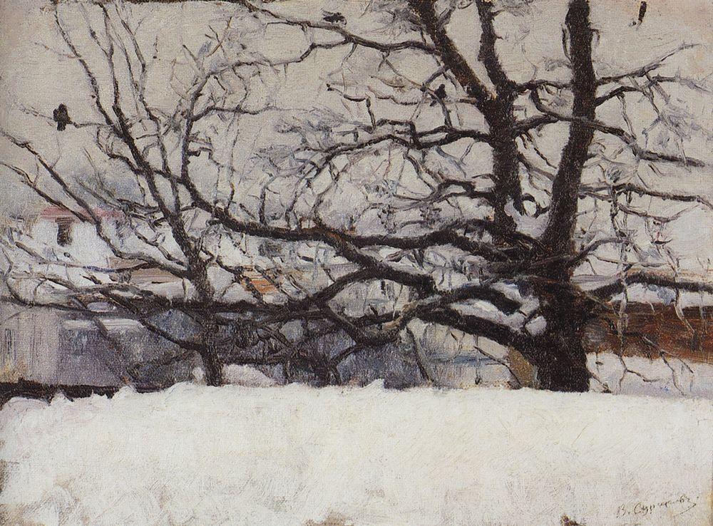 Winter in Moscow - Vasily Surikov