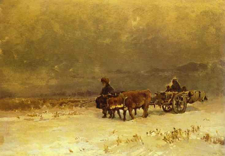 Winter in the Crimea - Fyodor Vasilyev