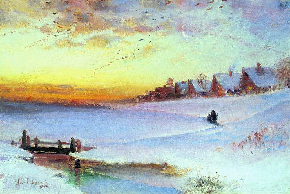 Winter Landscape (Thaw) - Aleksey Savrasov