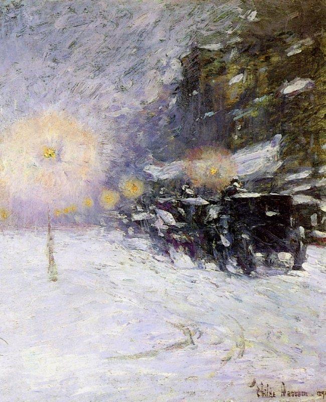 Winter Midnight, - Childe Hassam
