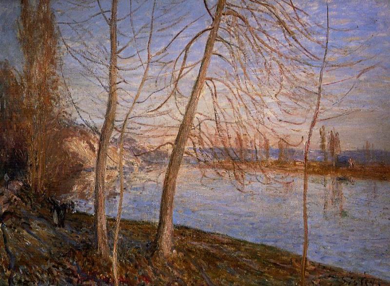 Winter Morning Veneux - Alfred Sisley