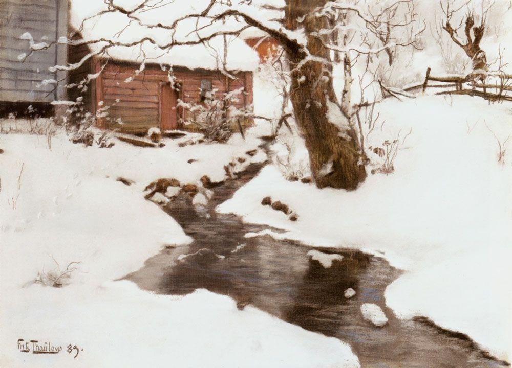 Winter on the Isle of Stord - Frits Thaulow