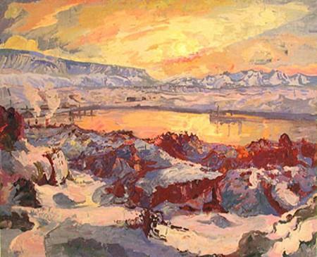 Winter Sun in Hafnarfjor?ur - Asgrimur Jonsson