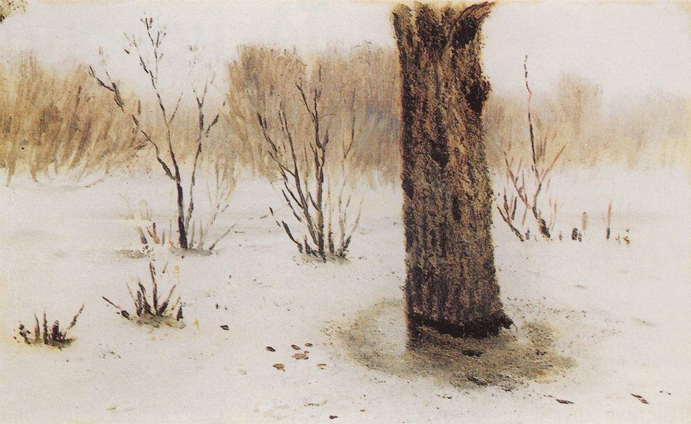 Winter. Thaw - Arkhip Kuindzhi