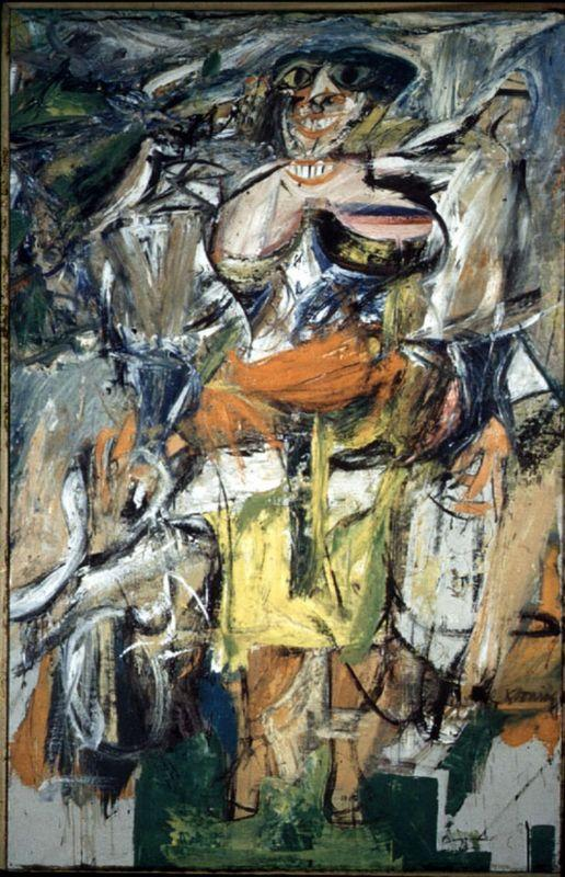 Woman and Bicycle - Willem de Kooning