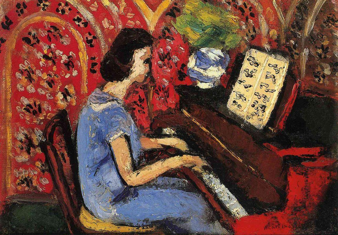 Woman at the Piano - Henri Matisse