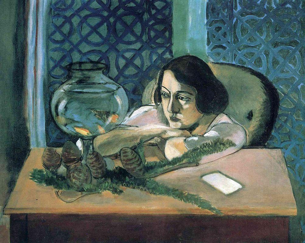 Woman Before a Fish Bowl - Henri Matisse