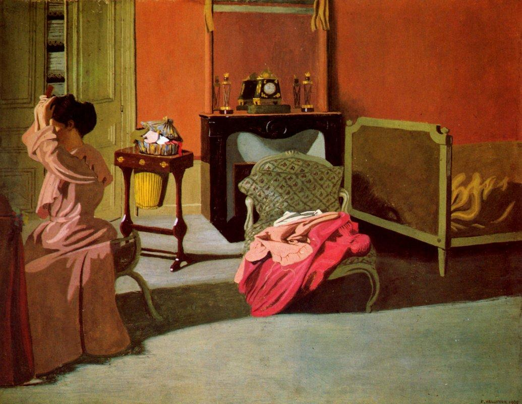 Woman being capped - Felix Vallotton
