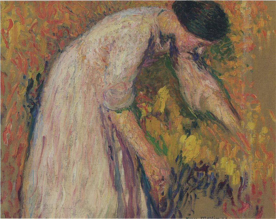 Woman by the artist - Henri Martin