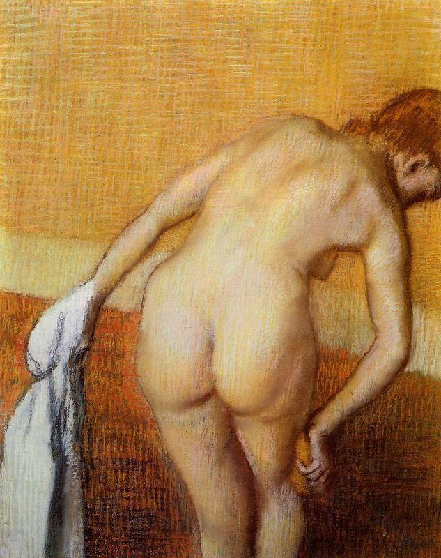 Woman Having a Bath - Edgar Degas