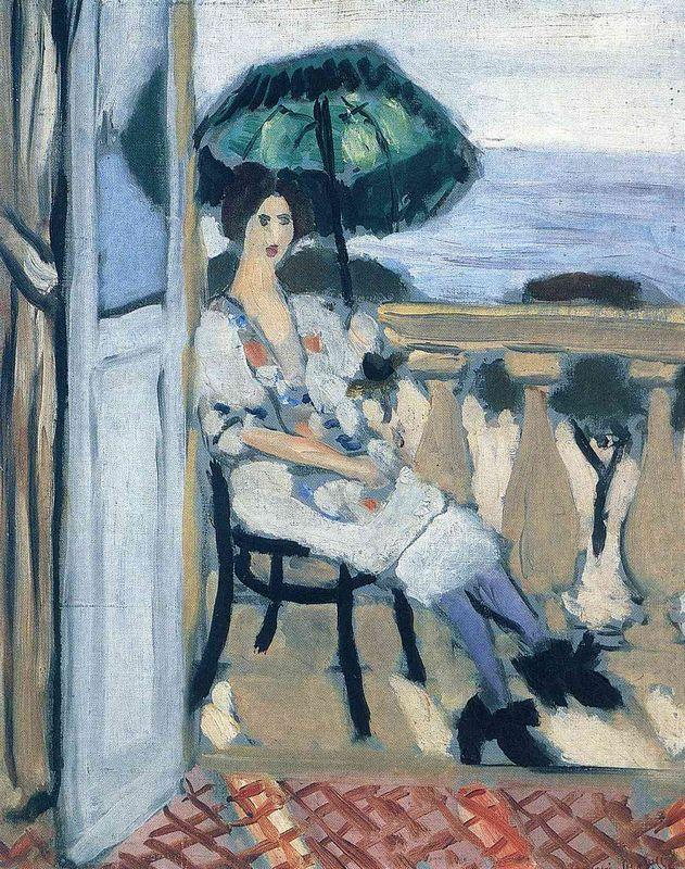 Woman holding umbrella - Henri Matisse