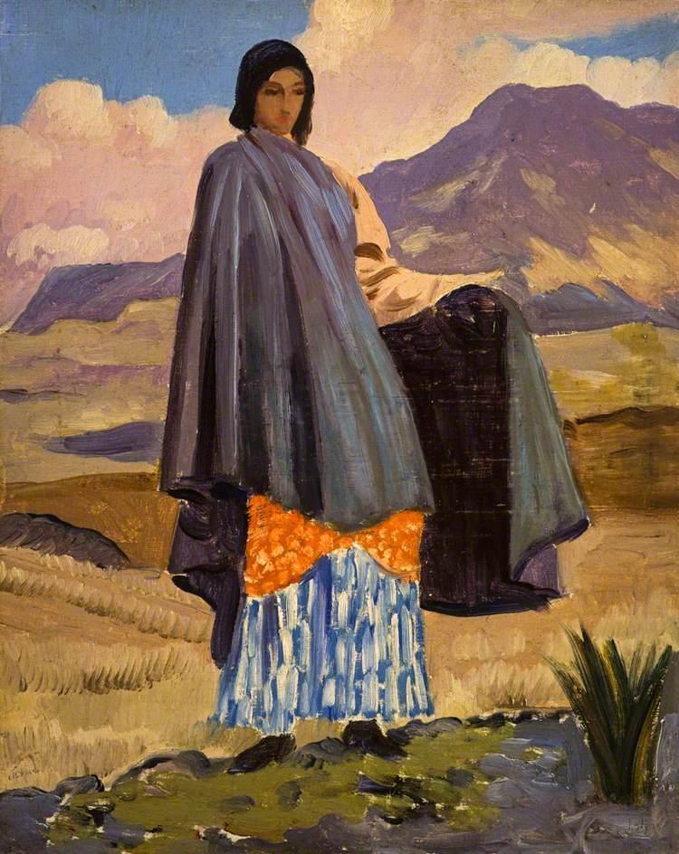 Woman in a Landscape - Augustus John