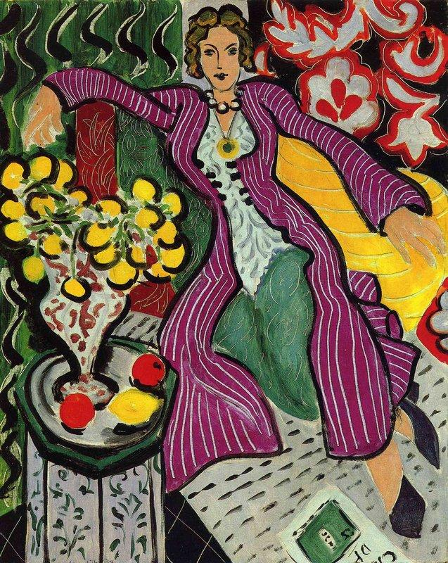 Woman in a Purple Coat  - Henri Matisse