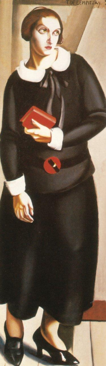 Woman in Black Dress - Tamara de Lempicka
