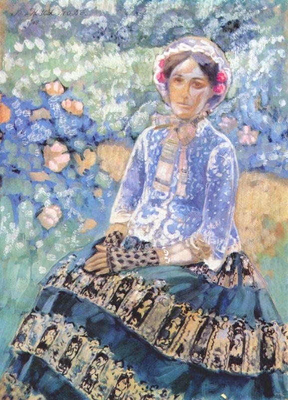 Woman in Blue Dress - Victor Borisov-Musatov