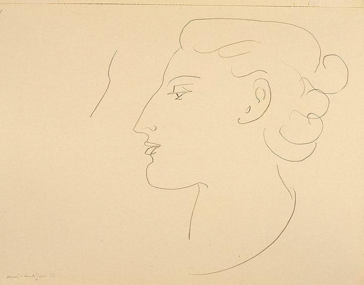 Woman in Profile (Turned to the Left) - Henri Matisse