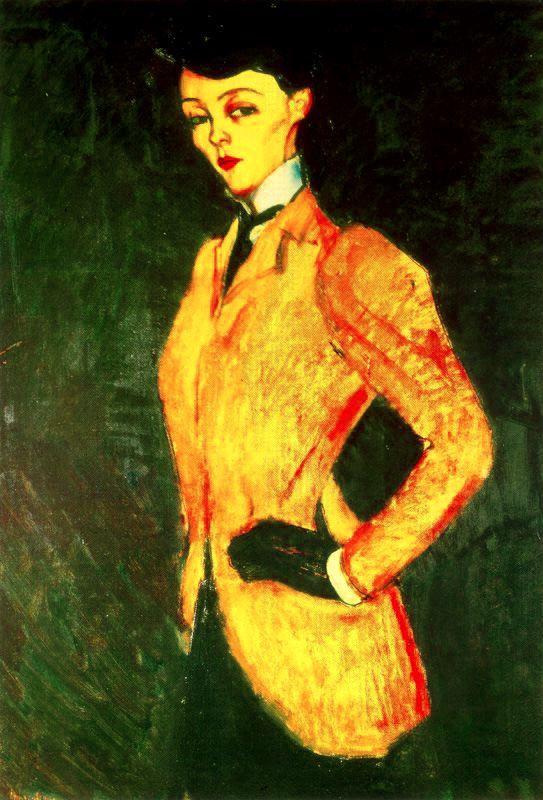 Woman in yellow jacket (Amazon) - Amedeo Modigliani